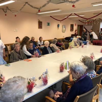 Visite de Noël des enfants des écoles de Wodecq et Ellezelles